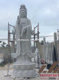 Tượng Phật Quan Âm bằng đá 3m