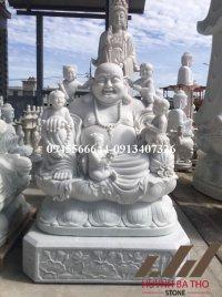 Tượng Phật Di Lặc Lục Tặc bằng đá đẹp