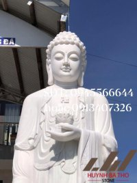 Tượng Phật A Di Đà đẹp bằng đá trắng